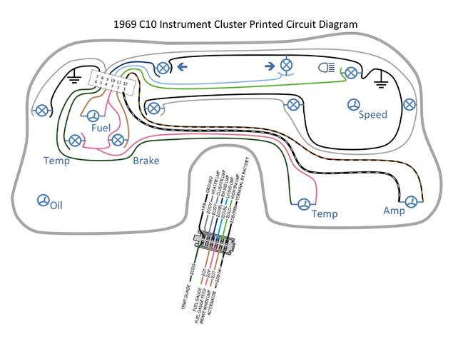 Wiring Diagram Of Instrument Cluster The 1947 Present Chevrolet Gmc Truck Message Board Network