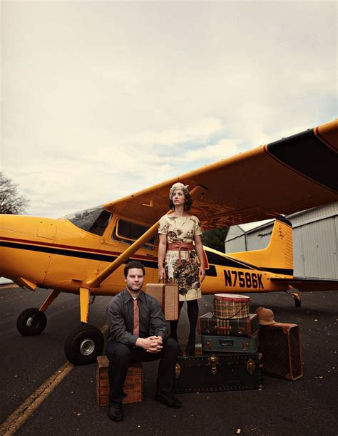 A Vintage Travel Inspired Anniversary Shoot   with a