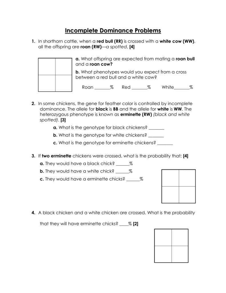 worksheet. Incomplete Dominance And Codominance Worksheet. Grass Fedjp Worksheet Study Site