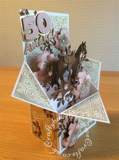 Horse Themed 50th Birthday Card2   Craftybabs Creative Crafts