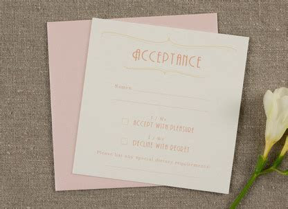 Rose Wedding Invitation   Papermarc Melbourne, Australia
