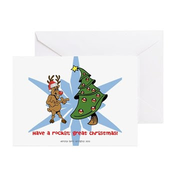 Rockin' Christmas Greeting Cards (Pk of 10)