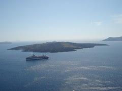 Serpihan Pulau Santorini Selepas Letupan Gunung Berapi, Greece