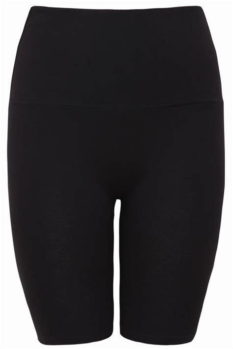 Black TUMMY CONTROL Soft Touch Legging Shorts, Plus Size