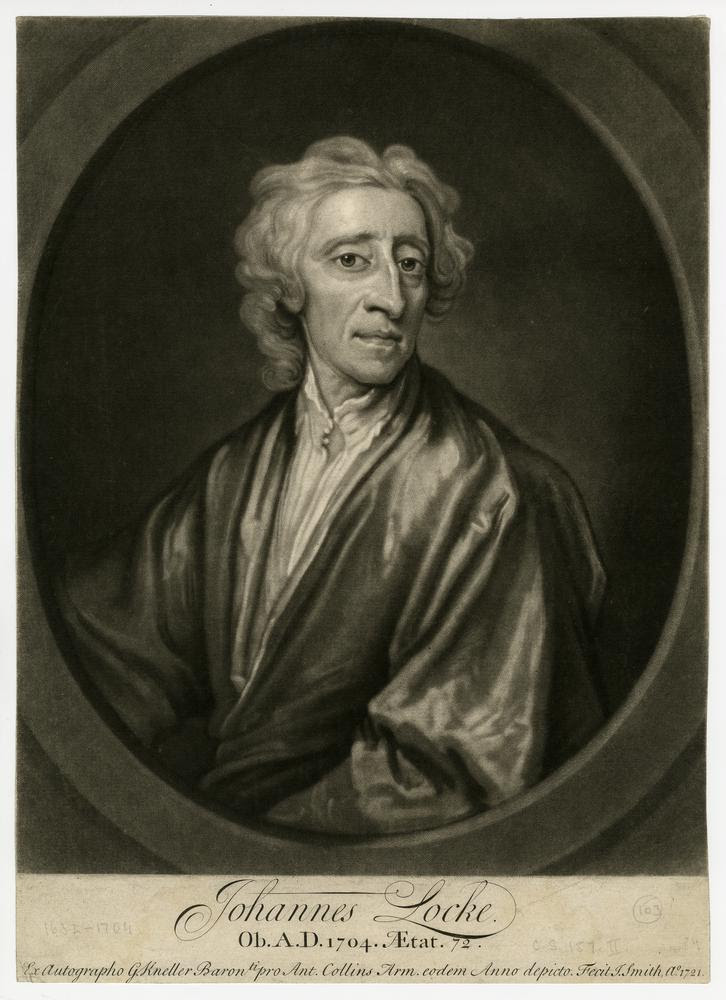 Portrait, half length in an oval frame, open collar and gown. 1721  Mezzotint