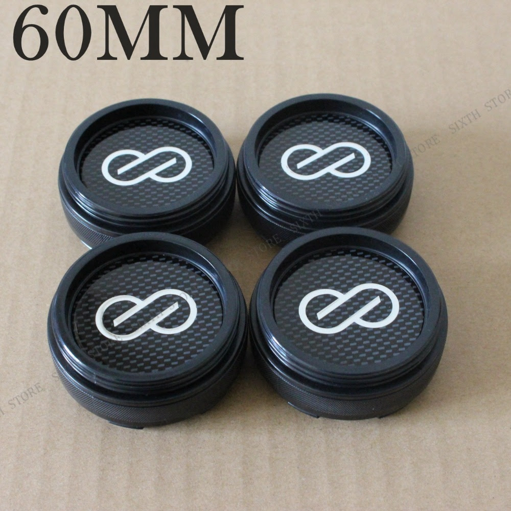 Kom Power High Quality Enkei Center Cap Rodas Enkei 60mm Wheel Center Caps Abs Chrome Black