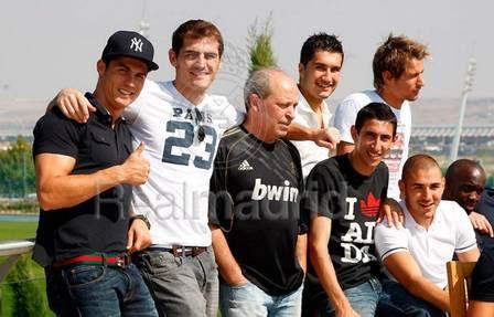 Cristiano Ronaldo com Casillas