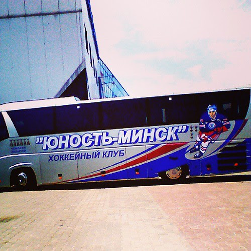 Автобус второго хоккейного клуба в Минске по значимости