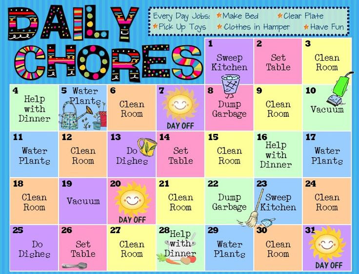 1000+ ideas about Daily Chore List on Pinterest | Weekly cleaning ...