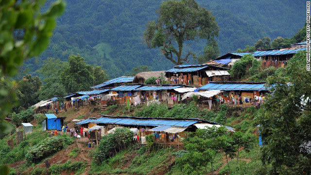 Tens of thousands of people have been forced from their homes by fighting in Kachin State. Many are sheltering in camps like this one, the Nhkawng Pa Internally Displaced People's (IDP) camp in Moe Mauk township, near Laiza. Photo dated September 19, 2012.