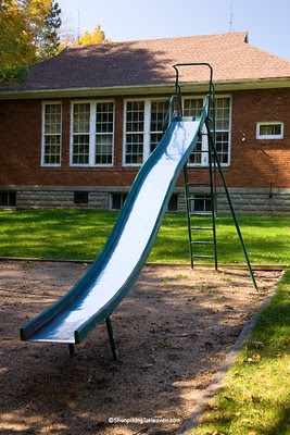 Slide at Old Brick Schoolhouse, Green County, Wisconsin