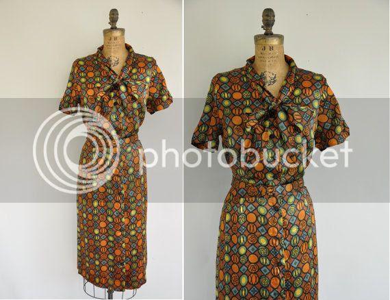 vintage etsy plus size 50s dress