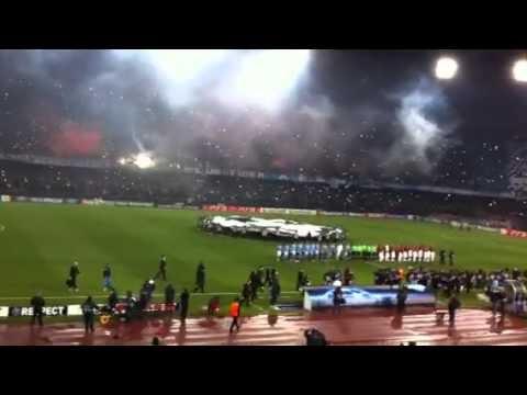 Napoli-Mancester City Inno champions e coreografia
