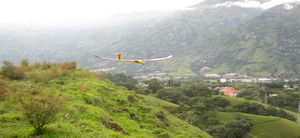 electric glider at the slope