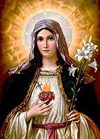 [Estampa del Sagrado Corazón de María]