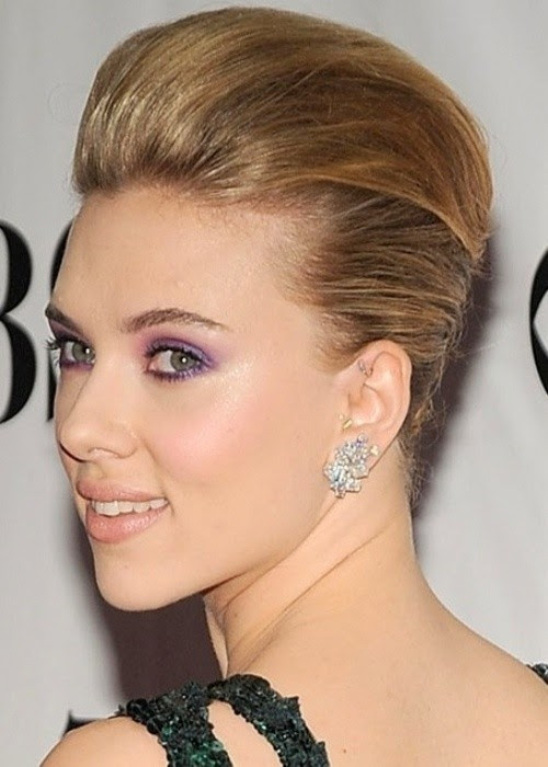 Updo Hairstyles For Short Hair Scarlett Johansson Style