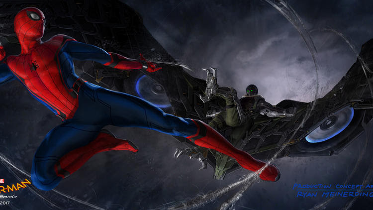 """Concept art for """"Spider-Man: Homecoming."""""""