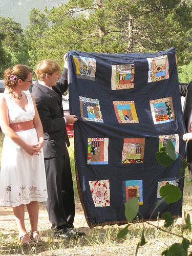 wedding quilt ceremony