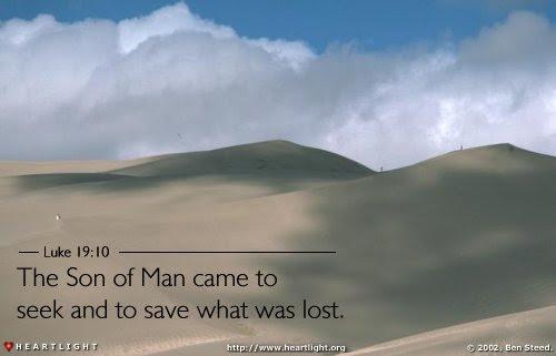 Inspirational illustration of Luke 19:10