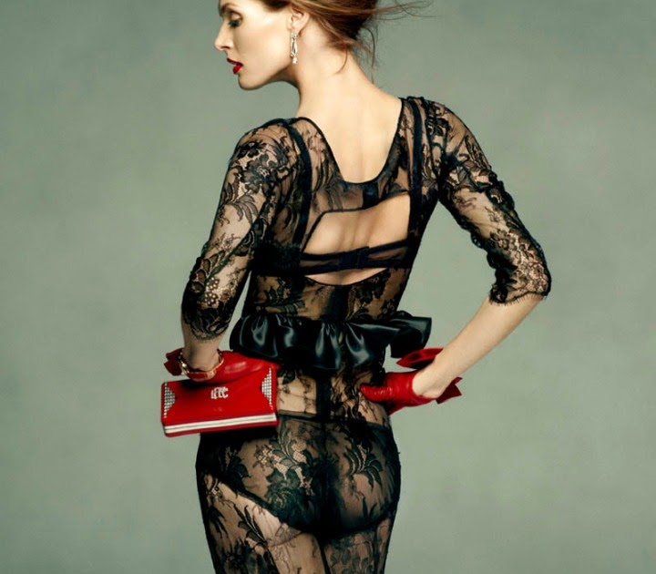 8a6eedf81463 fashion styles women: Malgosia Bela by Greg Kadel for Vogue Spain July 2011  | Dolce & Gabbana dress.