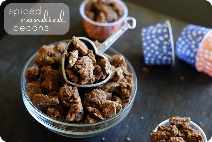 spiced candied pecans...put this recipe on your list for homemade holiday gift-giving!
