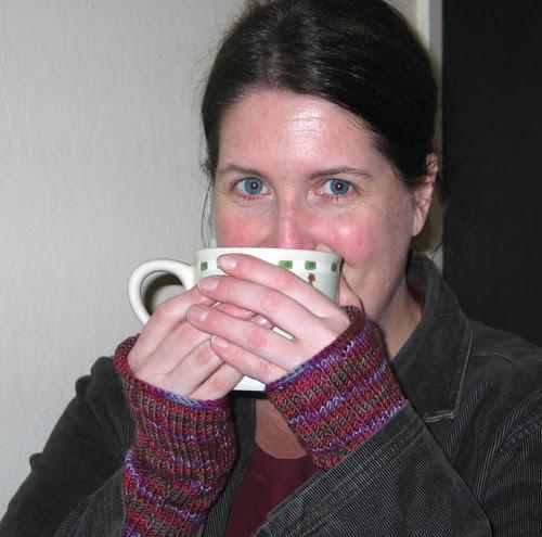 Thuja-inspired Fingerless Gloves