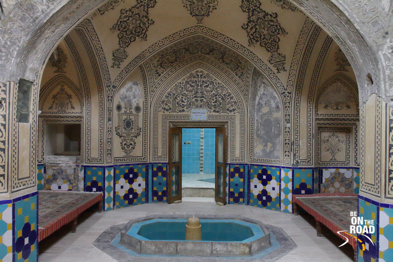 Glorious interiors of a hammam in Kashan