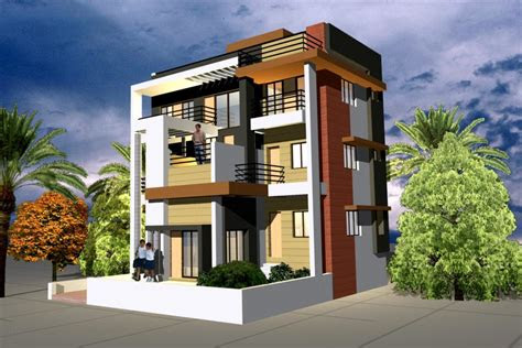 simple house front elevation designs  double floor