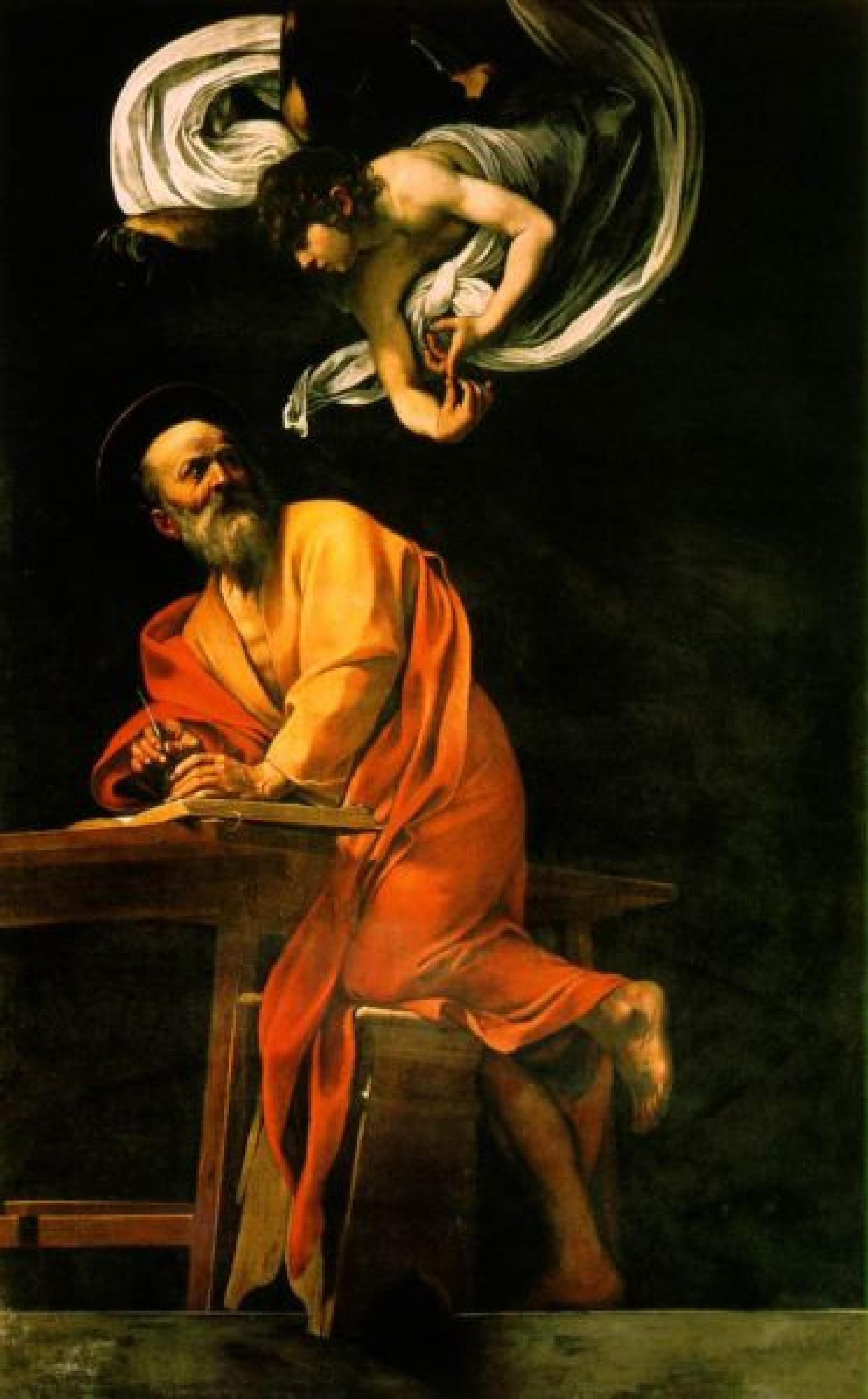 Caravaggio - A Inspiração de São Mateus