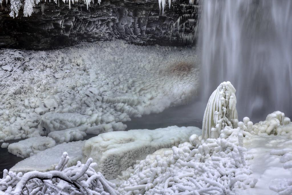 Fall Creek Falls detail 3, winter, Fall Creek Falls SP, Van Buren Co, TN
