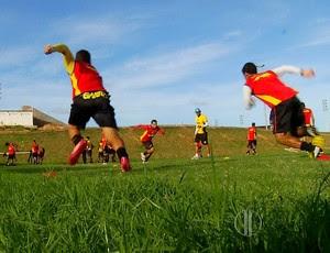 treinamento globo fc (Foto: Reprodução/Inter TV Cabugi)