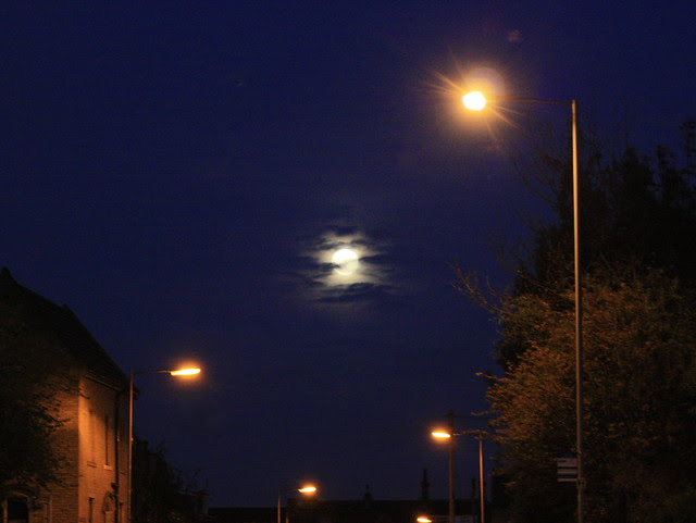 Supermoon rising over Bradford