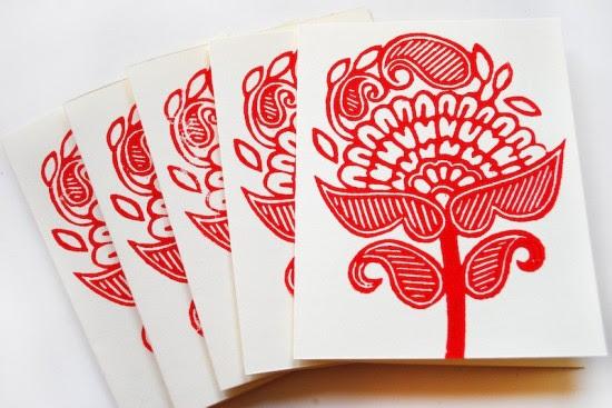 Printing Methods Block Printing Katharine Watson14 550x367 The Printing Process: Block Printing