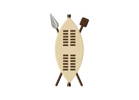 Zulu War Shield Machine Embroidery Design ? Blasto Stitch