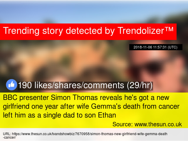 Bbc Presenter Simon Thomas Reveals Hex27s Got A New Girlfriend