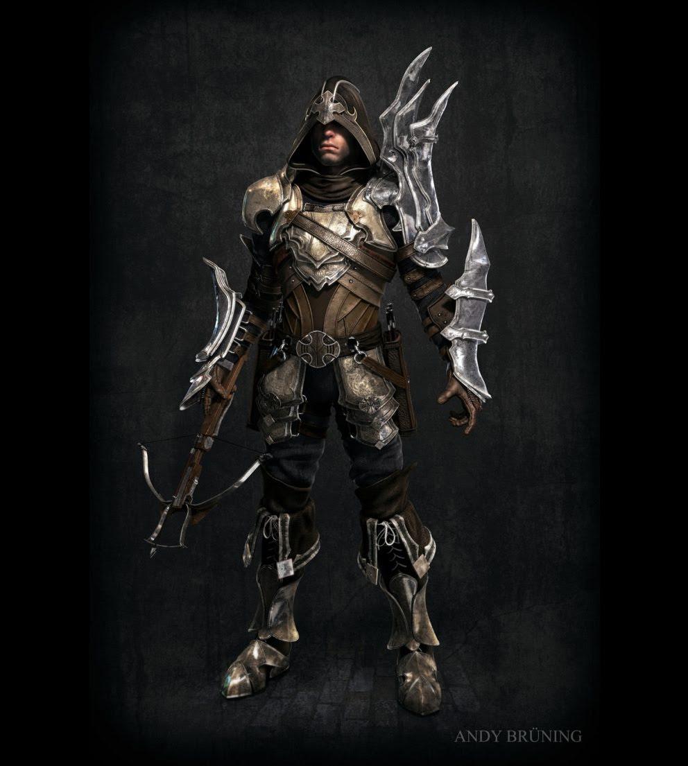Concept Art Demon Hunter Diablo Iii 3d Concept Art Fantasy