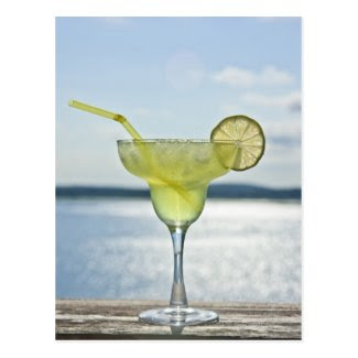 Margarita by the sea postcard