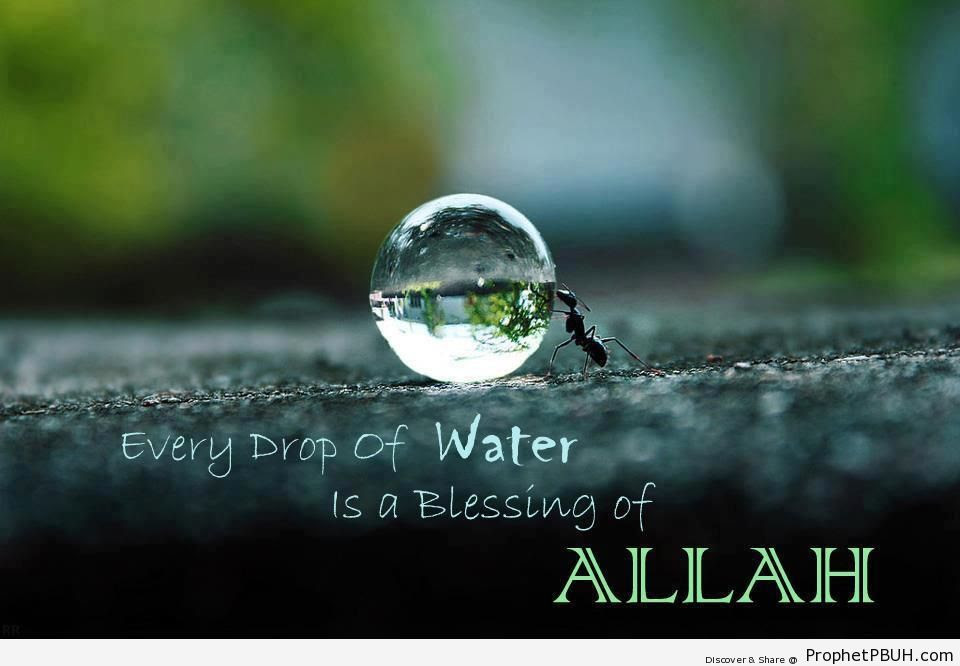 Every Drop Of Water Is A Blessing Islamic Quotes About Gods