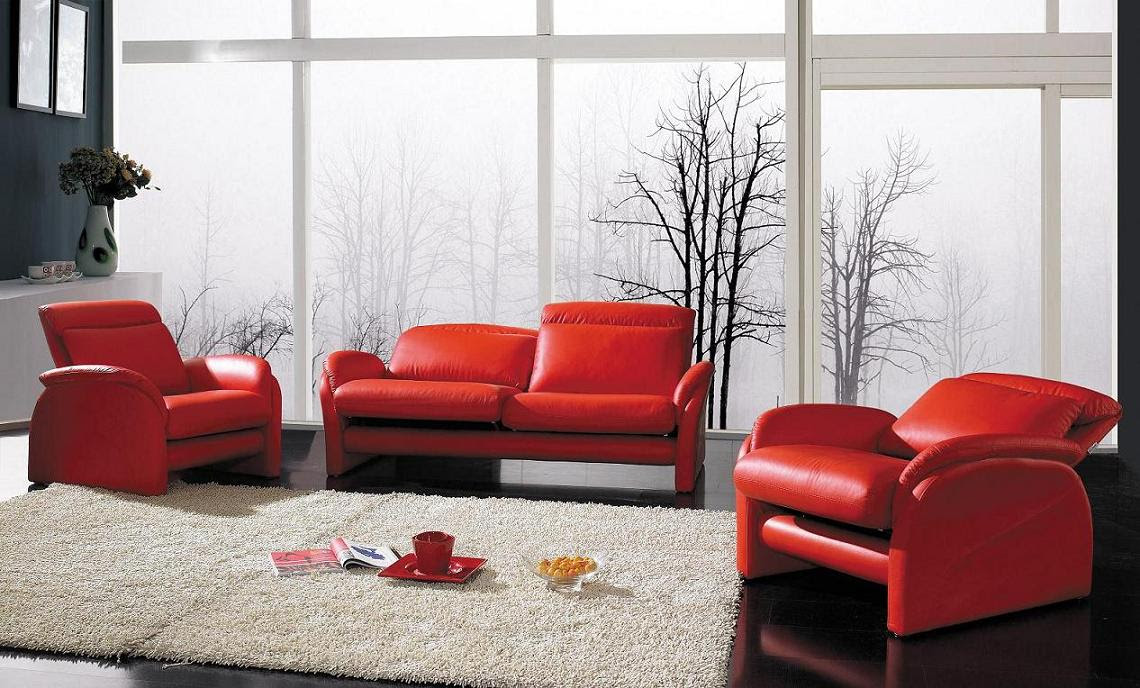 LA Furniture Blog » Blog Archive » Red/Pink Color for Your Living Room
