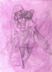 WIP Perfume Fairy - pencils