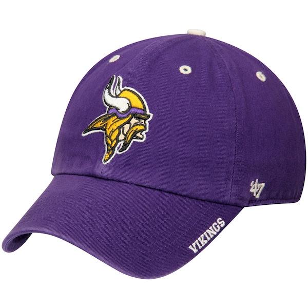 Mens Minnesota Vikings 47 Purple NFL Ice Clean Up Adjustable Hat  NFLShop.com