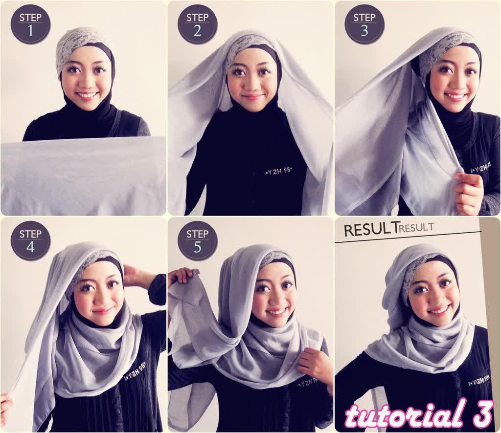 Cara Memakai Hijab Segi Empat Untuk Wajah Bulat
