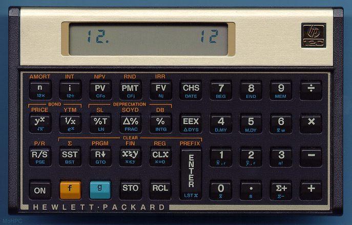 The Hewlett-Packard HP-12C Business Calculator