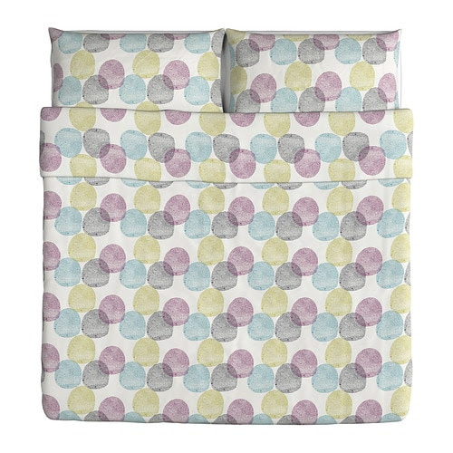 MALIN RUND Duvet cover and pillowcase(s) - King - IKEA