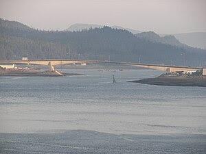 English: Juneau-Douglas Bridge connecting Doug...