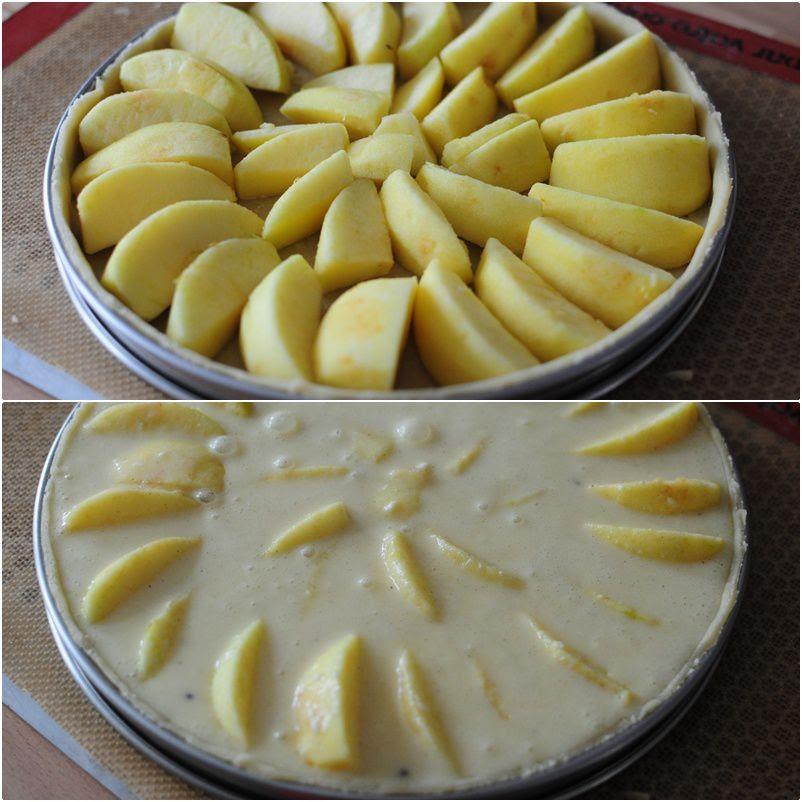 Ingrédients, Préparation Tarte Normande aux pommes