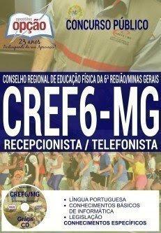 Apostila Concurso CREF MG RECEPCIONISTA / TELEFONISTA