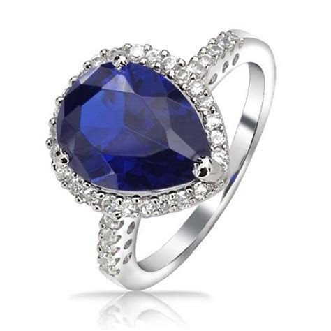 6 CTW Royal Blue Cubic Zirconia Simulated Sapphire