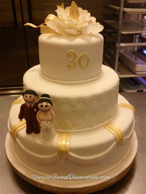 30th Wedding Anniversary Cake   Sweet Discoveries