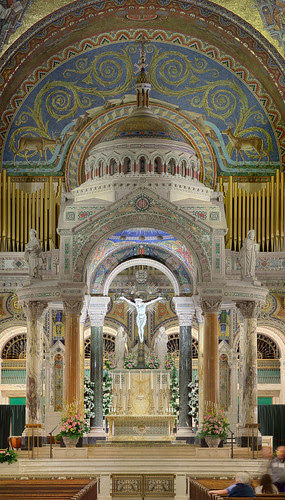 Cathedral Basilica of Saint Louis, in Saint Louis, Missouri, USA - large view of high altar 4